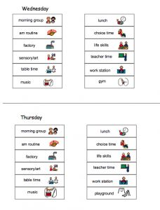 9 best Visual Schedules images on Pinterest | Visual schedules ...