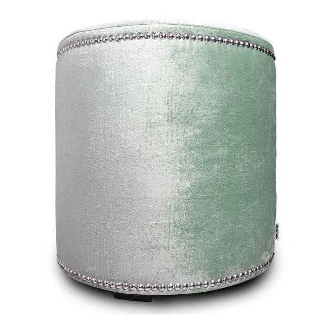 Velvet Glamour Pastel Mint Pouf #poufs #interiors #homedecor #mialiving