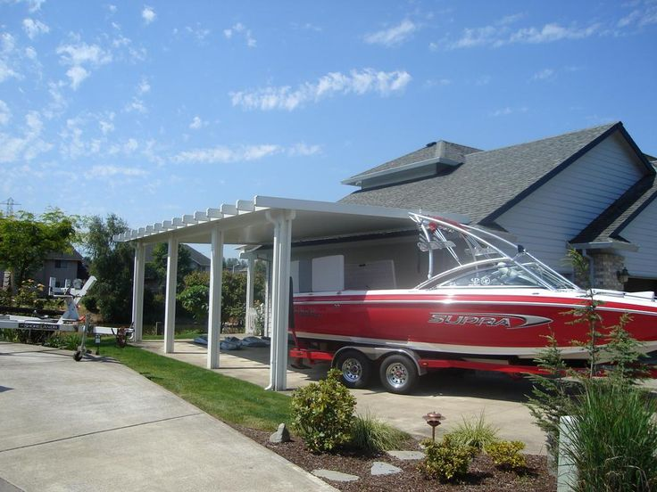 Attached rv carport home pinterest rv carports for Carports for motorhomes