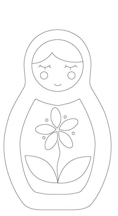 Molde Matrioska de tecido ou feltro