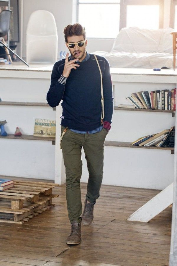 I Love The Distressed Boots. Together These Pieces Make A Great Casual Yet Fashionable Men's Fall Outfit.