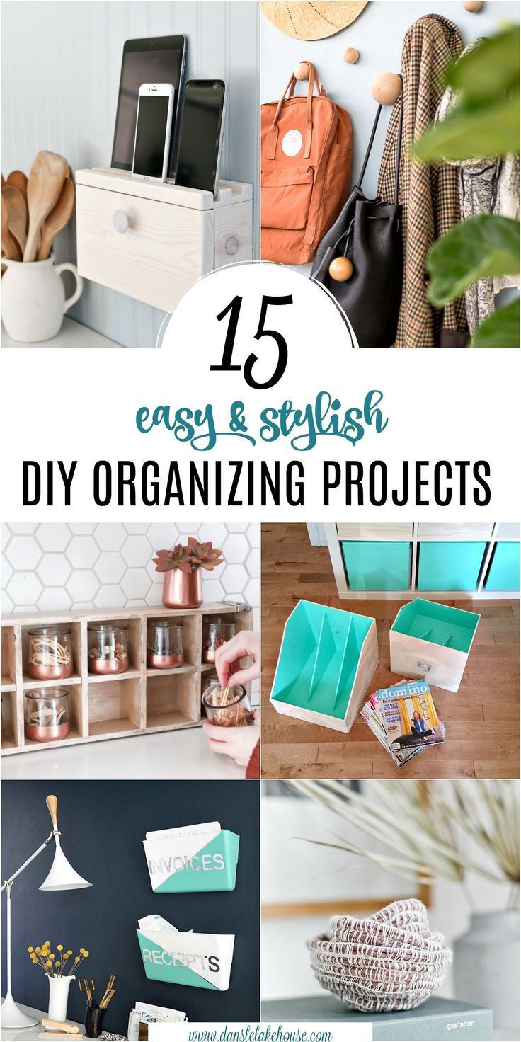 15 Stylish Diy Projects For Organizing Your Home Dans Le Lakehouse Craft Organization Diy Diy Organization Diy Projects
