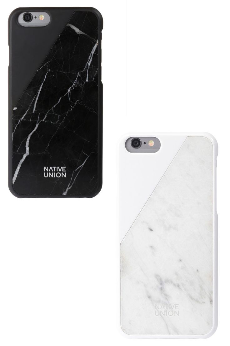 Native Union marble phone case, $80, nativeunion.com.   - HarpersBAZAAR.com