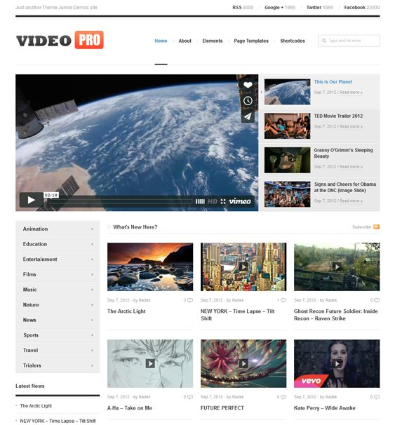 This video WordPress theme comes with multiple custom page templates, an advanced control panel, SEO-friendly code, ad management, social media widgets, cross-browser compatibility, and more.