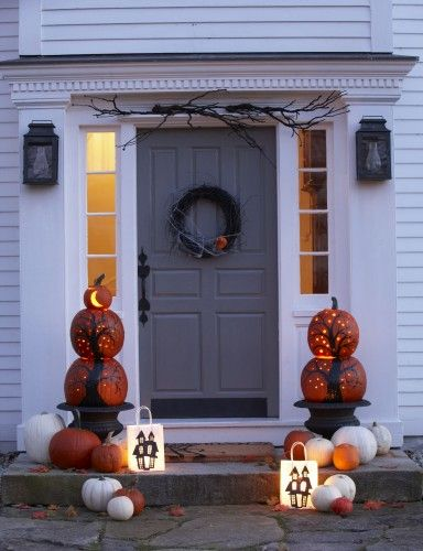 PinLaVie... Make your pins come true – Front Door Pumpkin Decorating Ideas