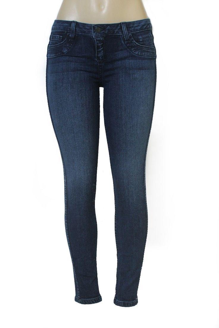 Nwot Bleulab Jeans Skinny Curve Legging Jegging Dark Navy Blue Reversible Womens