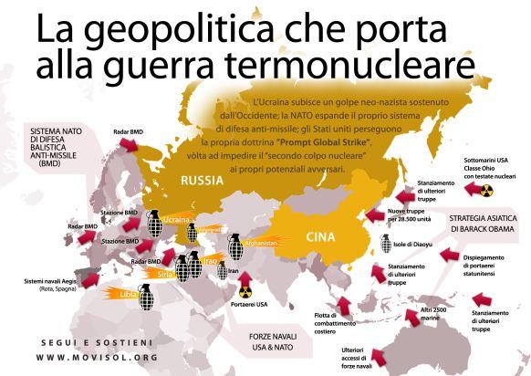 Le nazioni occidentali, guidate dall'Unione Europea e dall'amministrazione Obama, sostengono un tentativo di golpe apertamente neonazista in Ucraina. Se riusciranno nell'intento, le conseguenze andranno ben oltre i confini dell'Ucraina e degli stati limitrofi LEGGI:http://www.mondoallarovescia.com/in-ucraina-prove-tecniche-di-guerra-globale-termonucleare/