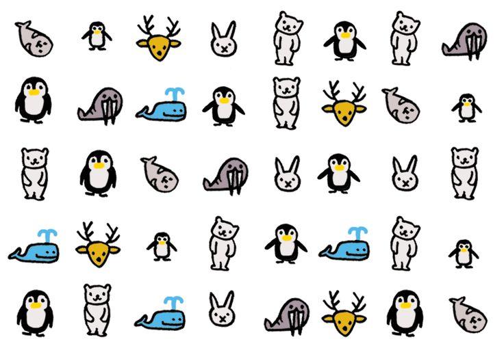 """Pinguins, walrussen, ijsberen, zeerobben, walvissen en ijskonijnen. Om je nagels winterklaar te maken. Ontwikkeld door nailart-queen Elfi in samenwerking met Eva.  Hoe breng je de decals aan? Simpel:  1. Voorzie je nagels van een base coat. Lak ze alle tien met twee dunne laagjes witte (of lichte kleur) nagellak. Laat eerst goed drogen. 2. Knip het gewenste icoontje uit met een schaar en hou dit stukje """"decal"""" gedurende 6 à 10 seconden in het water (tip: kommetje werkt makkelijker). 3. Haal…"""