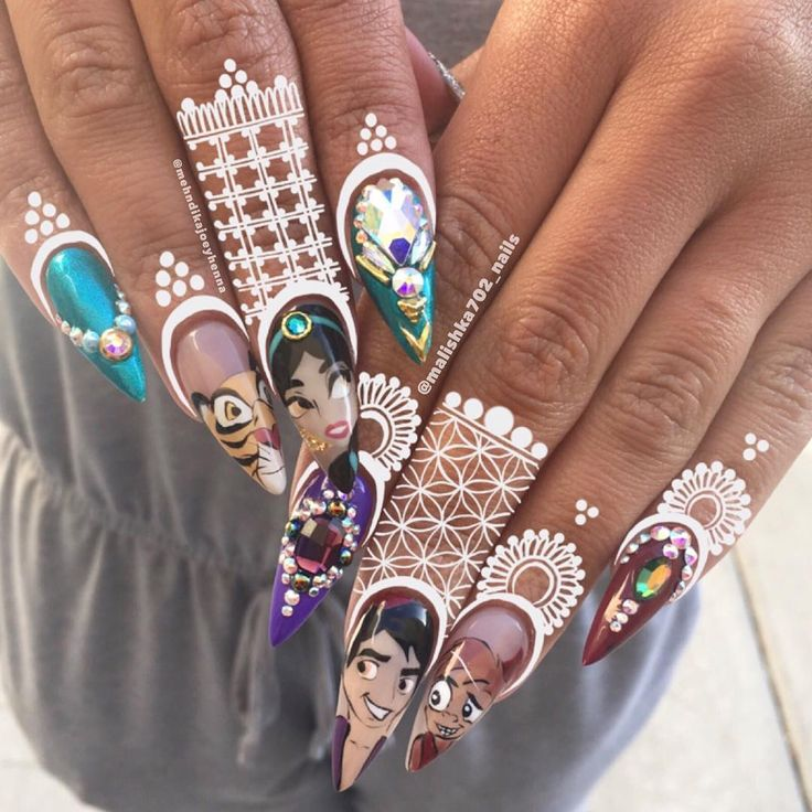 Princess Jasmine Nails: Best 25+ Disney Princess Nails Ideas On Pinterest