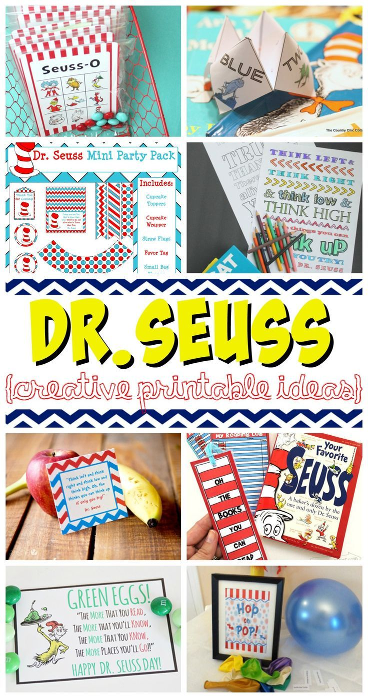Dr. Seuss Printables plus Creative Dr. Seuss Crafts and Recipes. Are you getting...