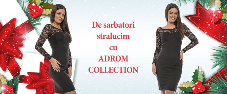 De sărbători ne dorim ținute deosebite, în care să strălucim. 😍     La Adrom Collection regăsim o gamă variată de produse, din care ne putem alege modelul perfect, pentru petreceri de neuitat! ✌     👉http://www.adromcollection.ro/rochii/366-rochie-angro-r546.html