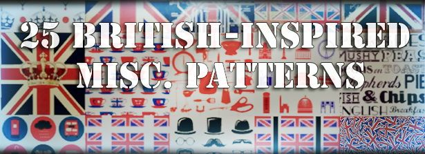 25 British inspired misc. patterns by Dessi tencentsims - Sims 3 Downloads CC Caboodle