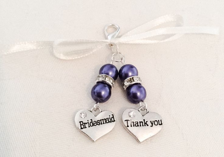A personal favourite from my Etsy shop https://www.etsy.com/uk/listing/504290543/bridesmaid-bouquet-charms-bouquet-charms