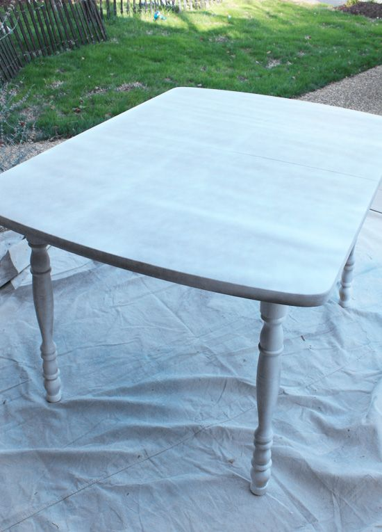 How to paint a laminate kitchen table from confessions of a serial do it yourselfer i like - Laminate kitchen tables ...