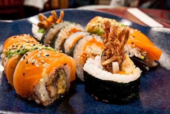 spider roll sushi :p craving sushi soooo bad