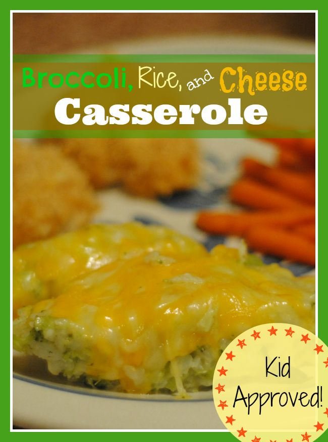 Oh so simple Broccoli Rice and Cheese casserole-- hide the veggies and it's gone in a flash! #KidApproved #Vegetables #Dinner
