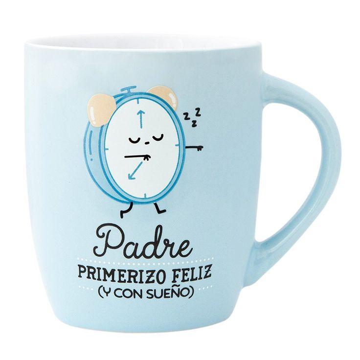 "Taza ""Padre primerizo y feliz"", de Mr Wonderful"