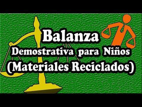 COMO HACER UNA BALANZA RECICLADA CON BOTELLAS PLASTICAS PARA PROYECTO ESCOLAR - YouTube