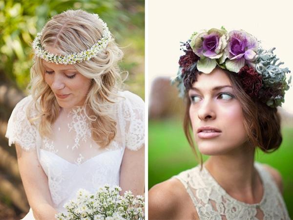 blumenschmuck f rs haar floral crowns kopfschmuck frisuren braut headpieces pinterest. Black Bedroom Furniture Sets. Home Design Ideas