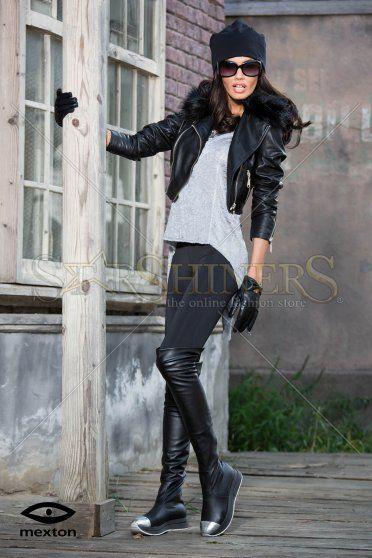 Mexton Bold Walk Black Boots