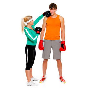 """Quit the cuddling and spend some QT time at the gym instead. """"Research shows that 94 percent of couples stick with their fitness programs when they work out together,"""" says Jari Love, certified personal trainer and fitness DVD star. Here, some moves to try together."""