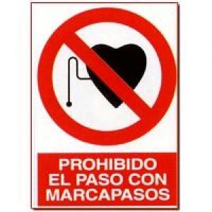 Señal Prohibido el Paso con Marcapasos - http://www.janfer.com/es/prohibicion/644-senal-prohibido-paso-marcapasos.html
