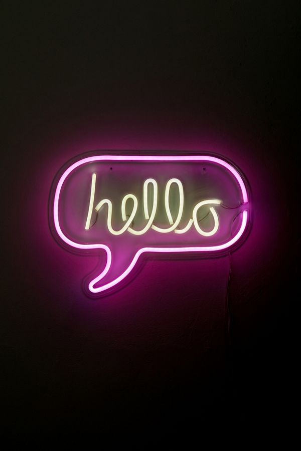 Hello Neon Sign Neon Signs Cool Neon Signs Neon Wallpaper