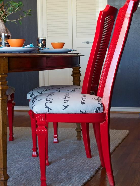 DIY Ideas Spray Paint And Reupholster Your Dining Room Chairs Chair Slipcovers Home