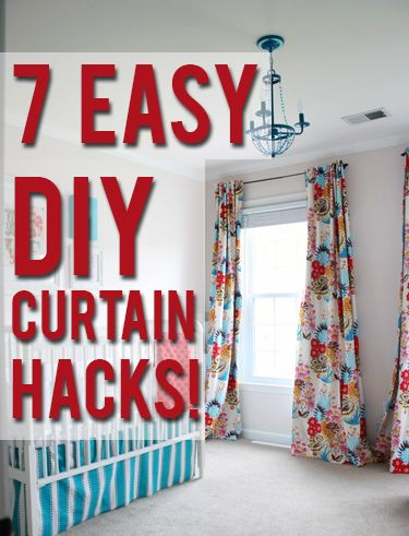 7 easy DIY curtain hacks-View Along the Way on Just A Girl blog