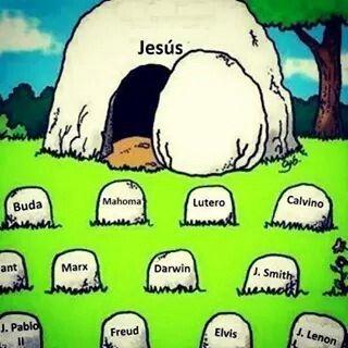 ¡Jesus esta vivo y reina con Dios en el cielo!
