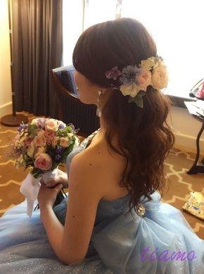 美人花嫁さまの幸せホテルウエディングな一日♡♡   大人可愛いブライダルヘアメイク 『tiamo』 の結婚カタログ