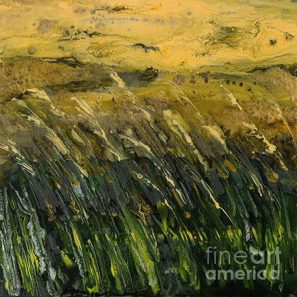 Semi-abstract fields painted by Alexandra Kiczuk