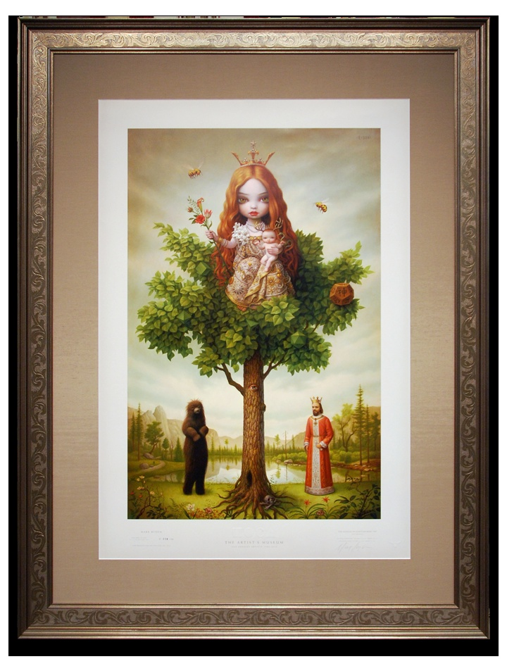 Collectible art by mark ryden framed with a larsonjuhl