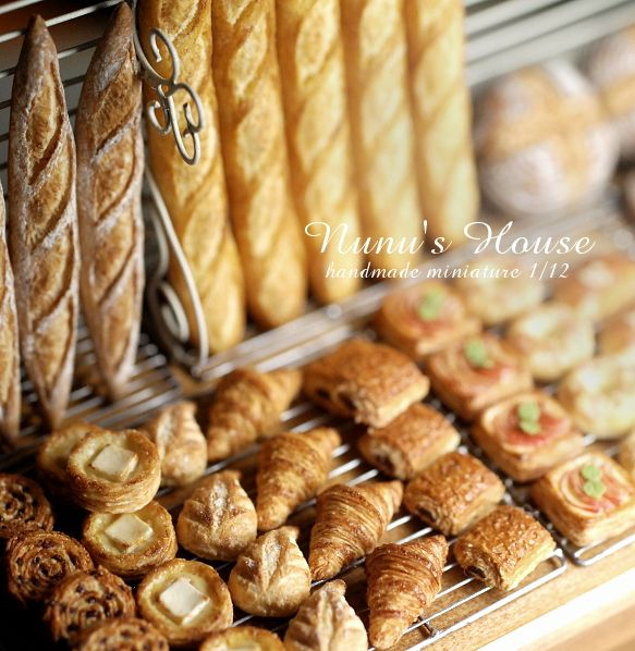 1:12th scale miniature bakery items from NuNu's House*新作パンとお知らせ*