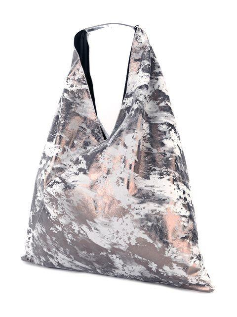 Mm6 Maison Margiela distressed shoulder bag