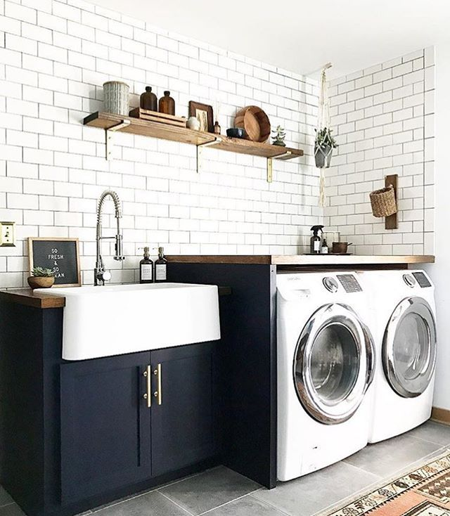 Laundry Room | White + Navy