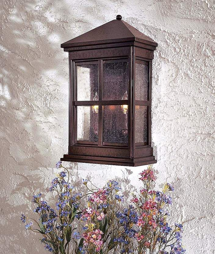 "Berkeley Collection 17 1/2"" High Outdoor Wall Pocket Light - #94669 