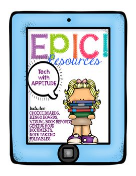 This product includes activities to be used with the EPIC! app in your classroom. This pack includes:Two pass-around (Share a book) sheets#phrases summary sheetSeven foldable note taking booksTwo compare/contrast sheetsOutline for chapter booksFour Visual Book Reports according to genreThree Bibliography pages for Genius Hour ResearchEPIC!