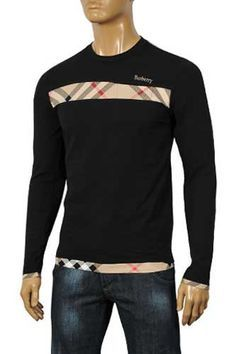 burberry shirt men's | Mens Designer Clothes | BURBERRY Men's Long Sleeve Tee #19