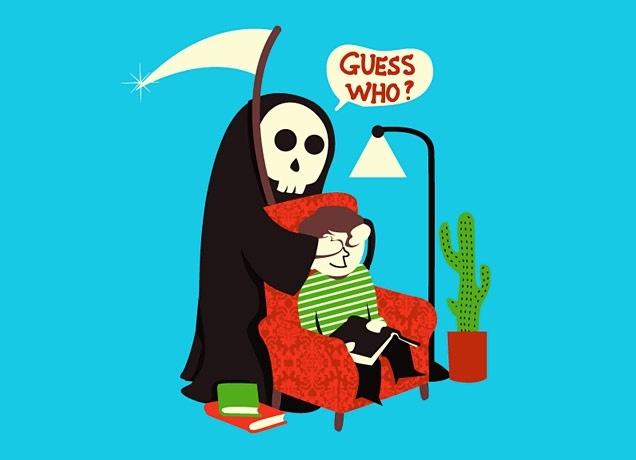 """Guess Who"" t-shirt...it's a bit like that sometimes!: Tees Shirts, Guys Style, Death, Art Prints, Funny Bones, Funny Stuff, Grim Reaper, Tshirt, T Shirts"