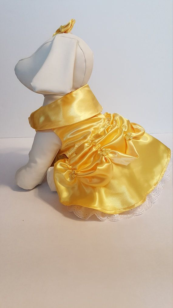 Belle Dog Costume Dog Belle Halloween Costume Puppy by sweetpawz