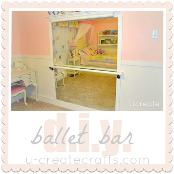 DIY Ballet Bar by Ucreate: Ballet Bedrooms, Ideas, Little Girls, Diy'S, Girls Bedrooms, Diy Ballet, Ballet Barre Bedrooms, Girls Rooms, Kids Rooms