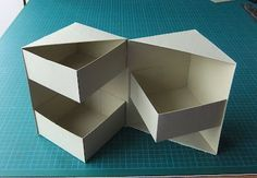 """Secret box tutorial (4 1/2"""" high). I think I can use origami folds to make the outside and inside boxes."""