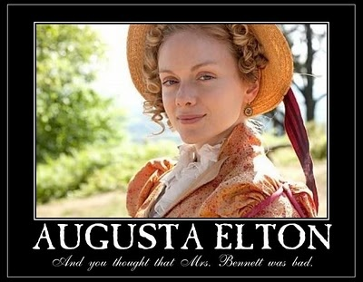 """Mrs. Elton: """"Emma"""" (2009 BBC mini) And you thought Mrs. Bennet was bad..."""