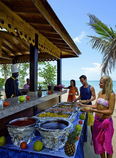 Riu Montego Bay Jerk Chicken Hut All Inclusive Food