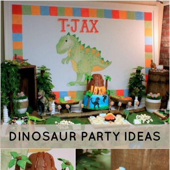25+ Best Ideas About Dinosaur First Birthday On Pinterest