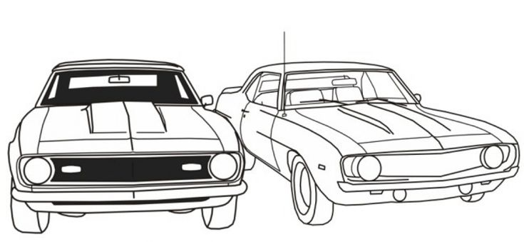 Free Printable Muscle Car Coloring