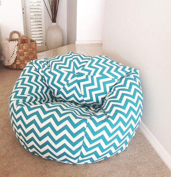 Chevron Bean Bag adults, teenagers, kids. Turquoise Zig Zag Bean Bag.  Birthday Gift Boys, Girls Gift. So many colours to choose from!