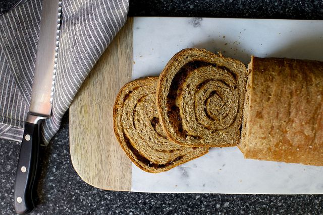whole-grain cinnamon swirl bread | smittenkitchen.com