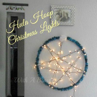 Hula Hoop Christmas Lights